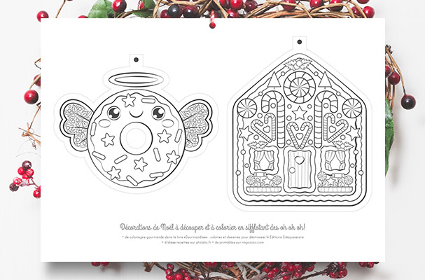 Diy craft modelage printable loisirs cr atifs ringococo for Decoration noel dessin